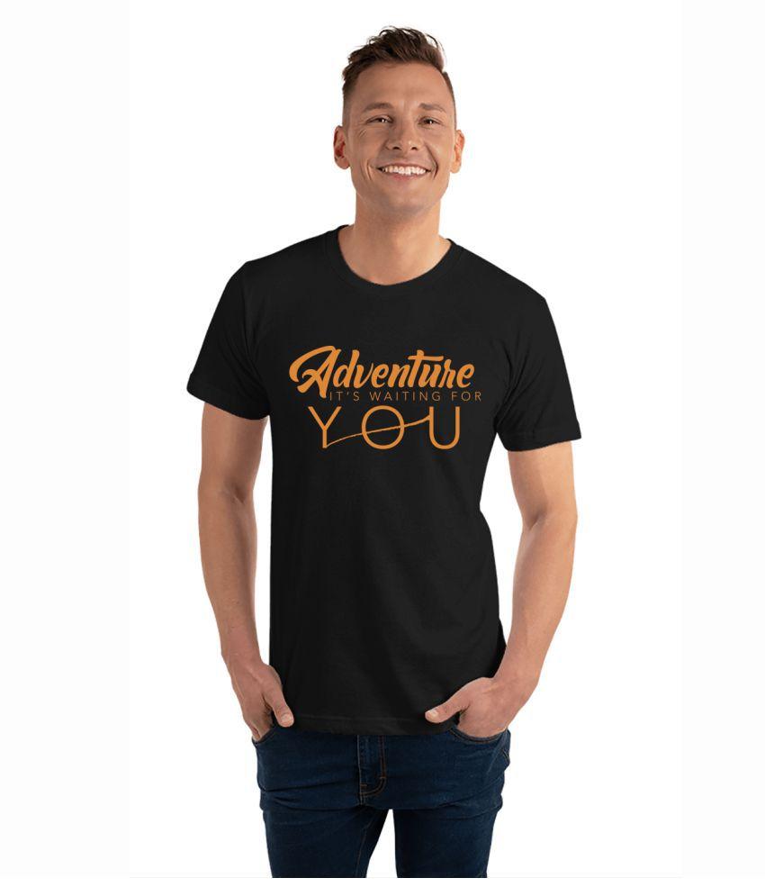 NAVI JERSEY 100 Percent Cotton Black Printed T-Shirt