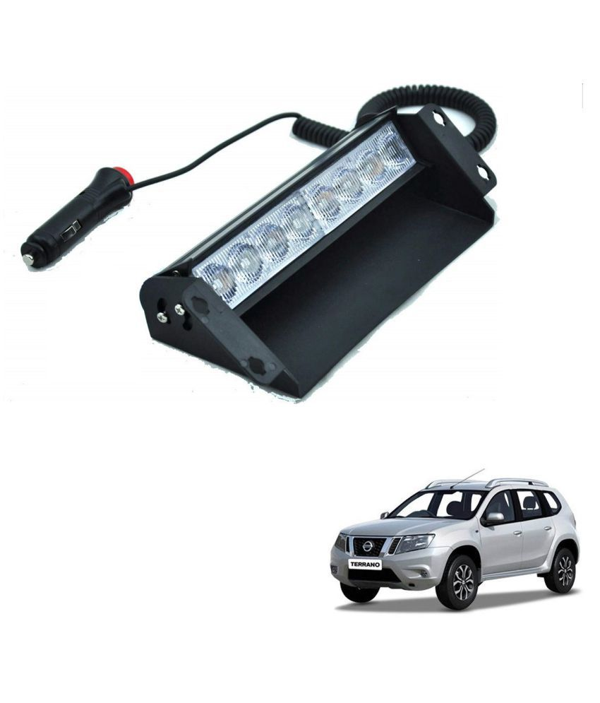Auto Addict Car 8 LED Police Lights Flasher Light Red Blue Interior Lighting For Nissan Terrano