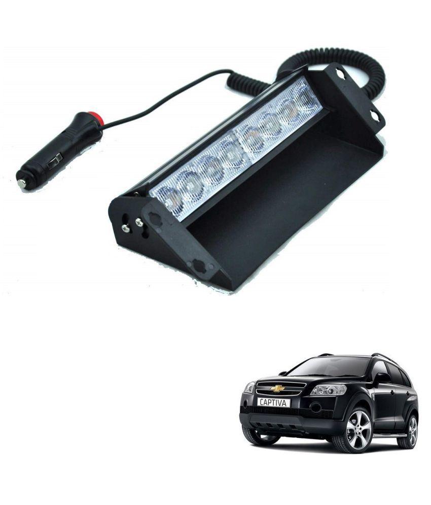 Auto Addict Car 8 LED Police Lights Flasher Light Red Blue Interior Lighting For Chevrolet Captiva