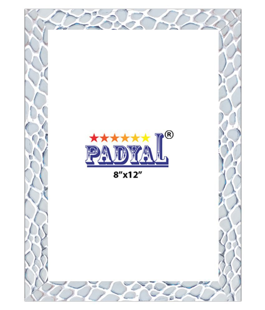 PADYAL Wood Table Top & Wall hanging White Single Photo Frame - Pack of 1