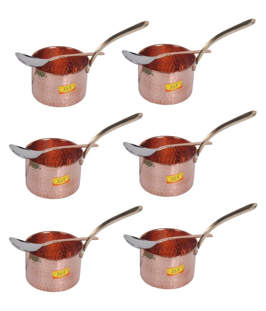 Shiv Shakti Arts Copper SaucePan500ML 6 Piece Cookware Set