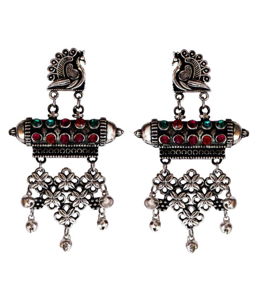 Beautiful Antique peacock  shape Temple jhumki earring for Womem and girls