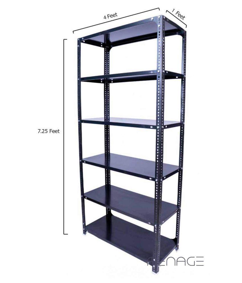 MENAGE® Slotted Angle Rack 87 x 48 x 12 Inch with Shelf Shelving Unit Multipurpose Rack