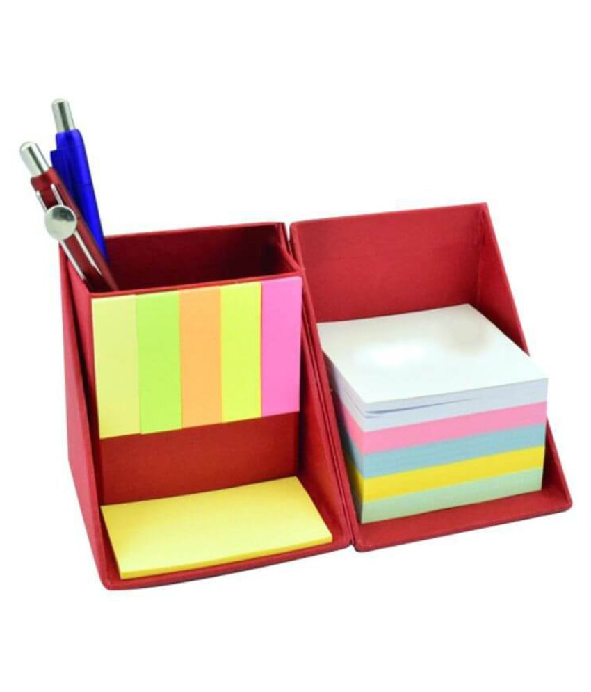 Imported Folding Stationery Cube with Sticky Memo notes and Writing sheets