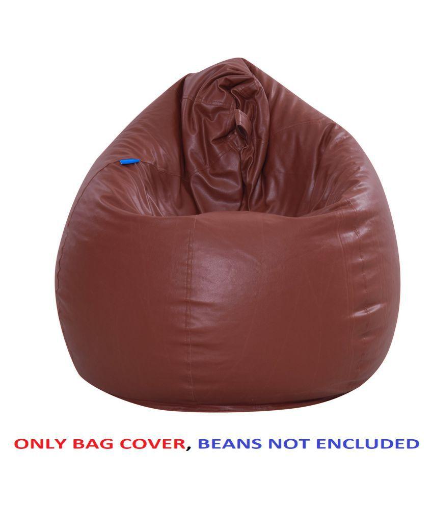 Satin cloud XXL Size Bean Bag  Without Beans    L.Brown