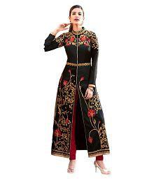 Art Silk Salwar Suits: Buy Art Silk Salwar Kameez Online at