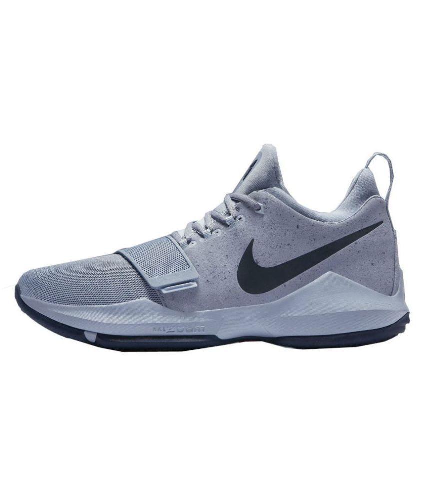 check out 7ef60 3e7e8 Nike PG 1 TS PROTOTYPE EP Basketball Grey Running Shoes