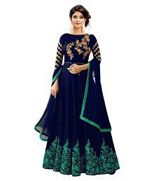 d87481a2daed78 Quick View. Bandidhari Fashion Blue Silk Anarkali Semi-Stitched Suit