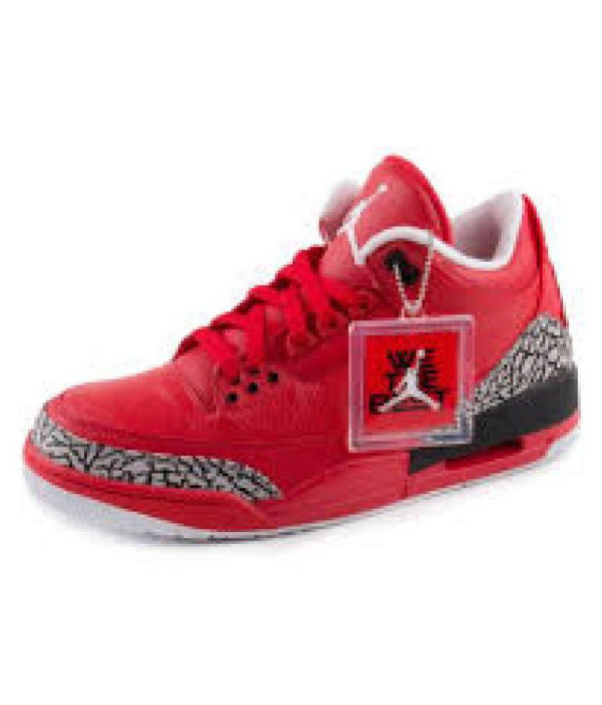 size 40 f80da fd1b7 Nike Jordan Retro 3 Red Basketball Shoes