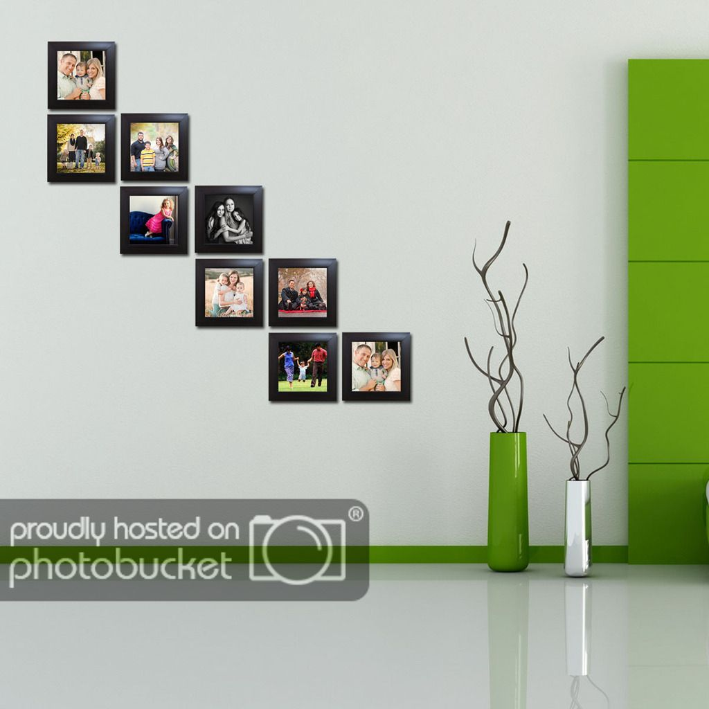 Allure Acrylic Brown Photo Frame Sets - Pack of 9