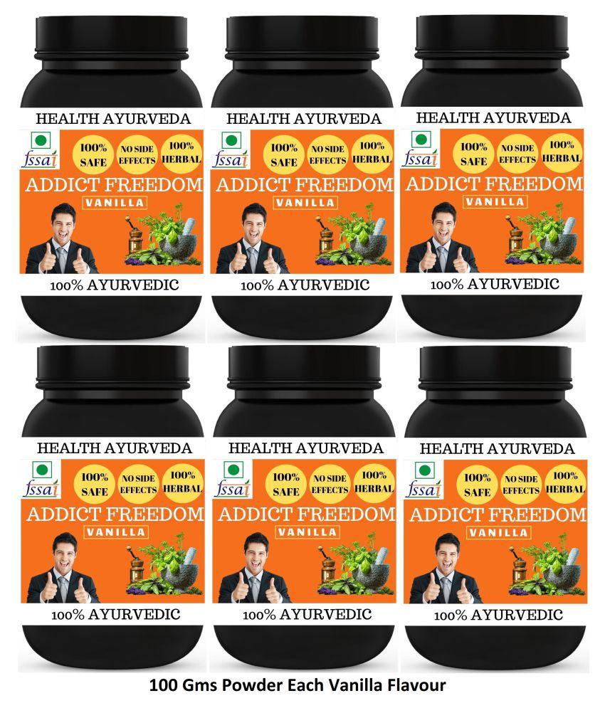 Health Ayurveda Addict Freedom Vanilla Flavour Powder 600 gm Pack Of 6