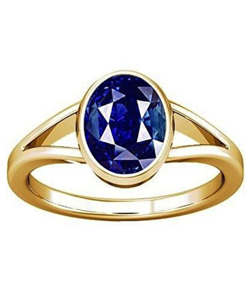 Divya Shakti 7.25-7.50 Ratti Blue Sapphire Ring (Nilam / Neelam stone Panchadhatu Ring) AAA Quality Gemstone
