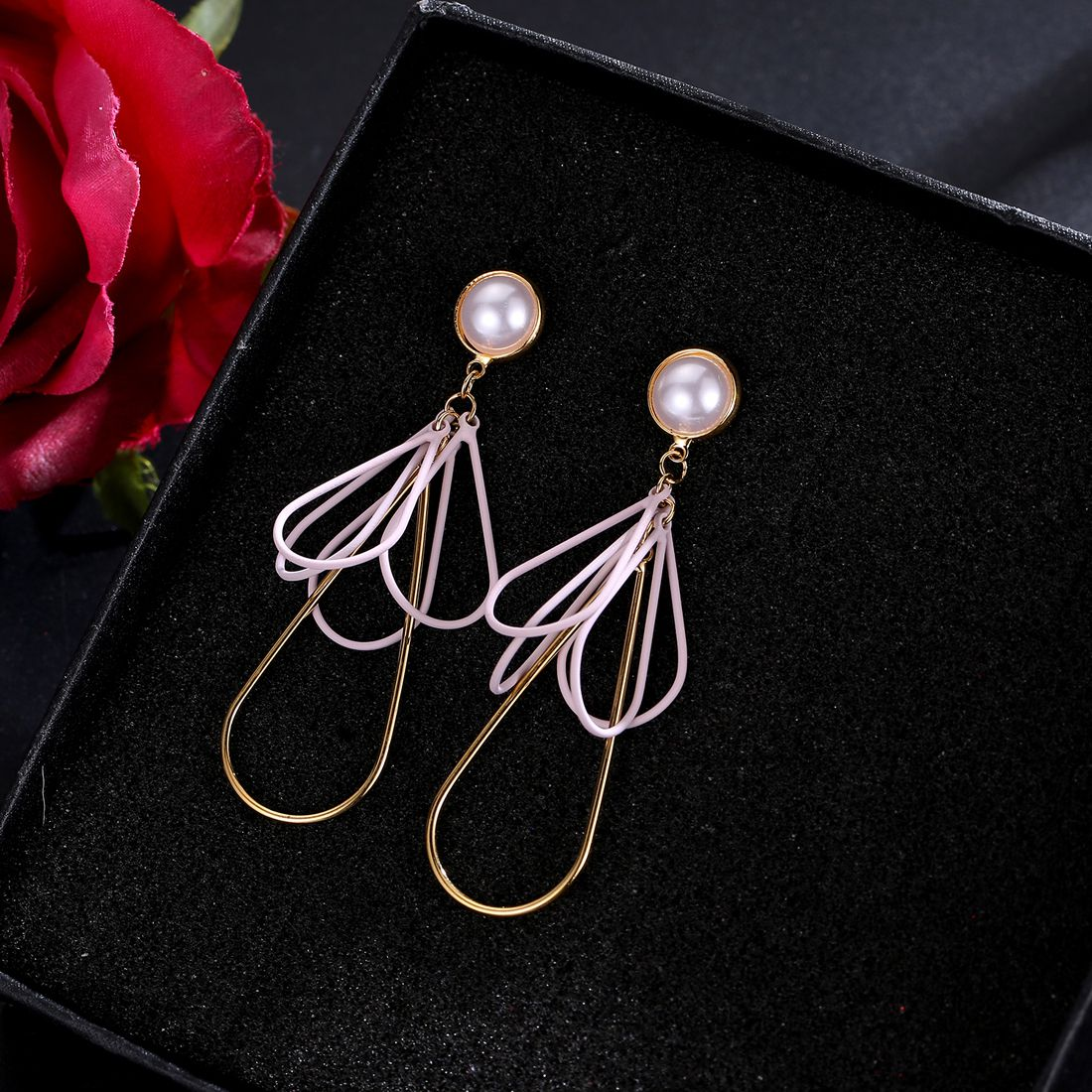 Jewels Galaxy Exclusive Luxuria Flawless Pearl Multicolor Dangler Earrings For Women/Girls
