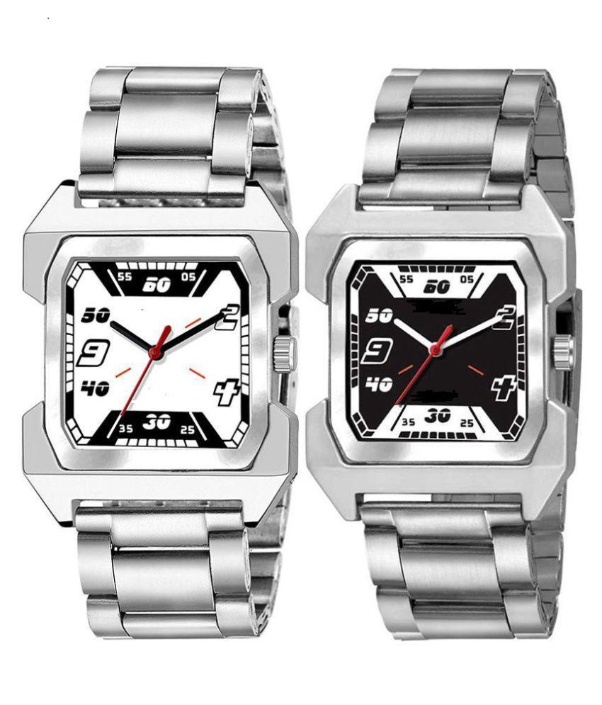 herita  Fancy Square Dial Analog Watch - Buy 1 Get 1 Free