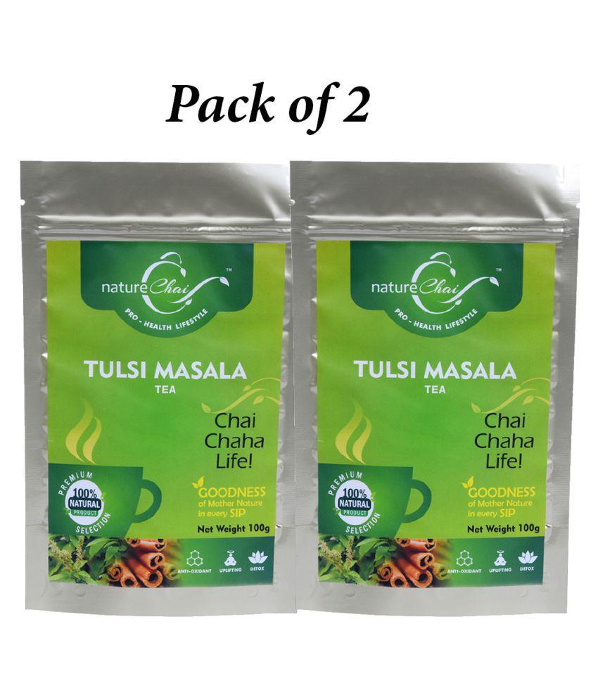 nature Chai Tulsi masala Tea Loose Leaf 100 gm Pack of 2