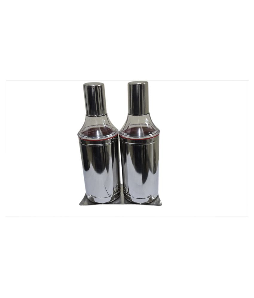 Dynore Tray with 1000 ml Steel Oil Container/Dispenser Set of 3 1000 mL