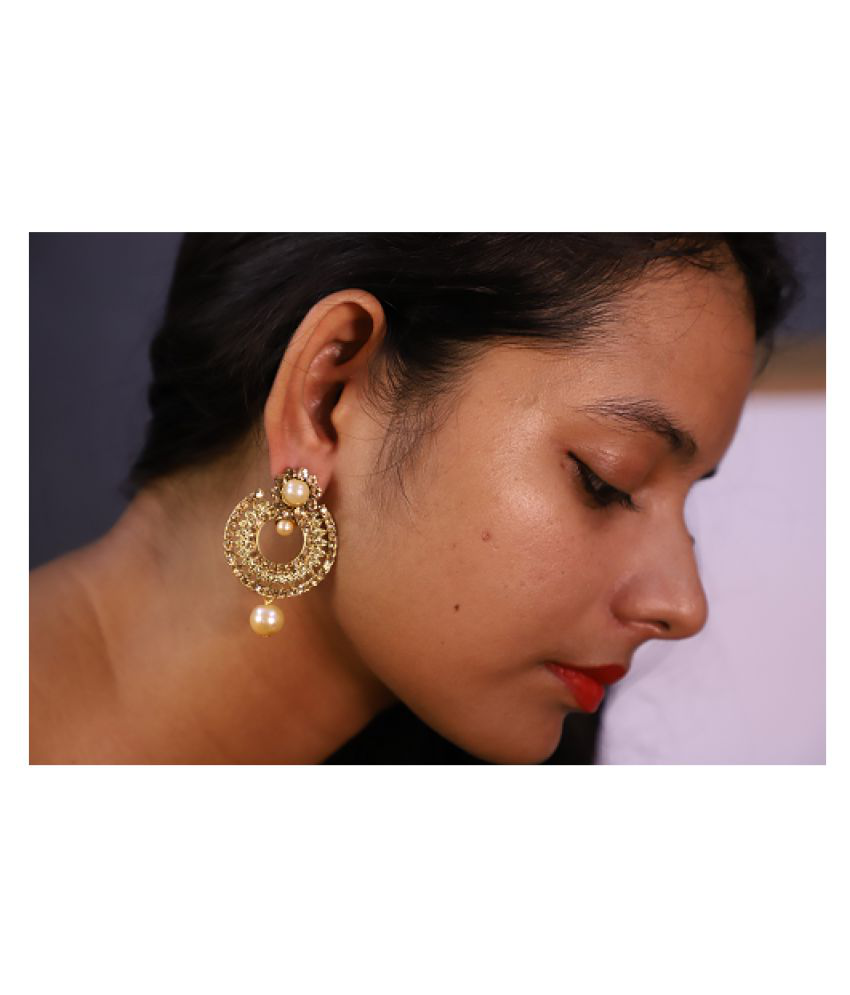 Econkart Traditional Gold Plated Jhumka Earring for Women, Party Wear