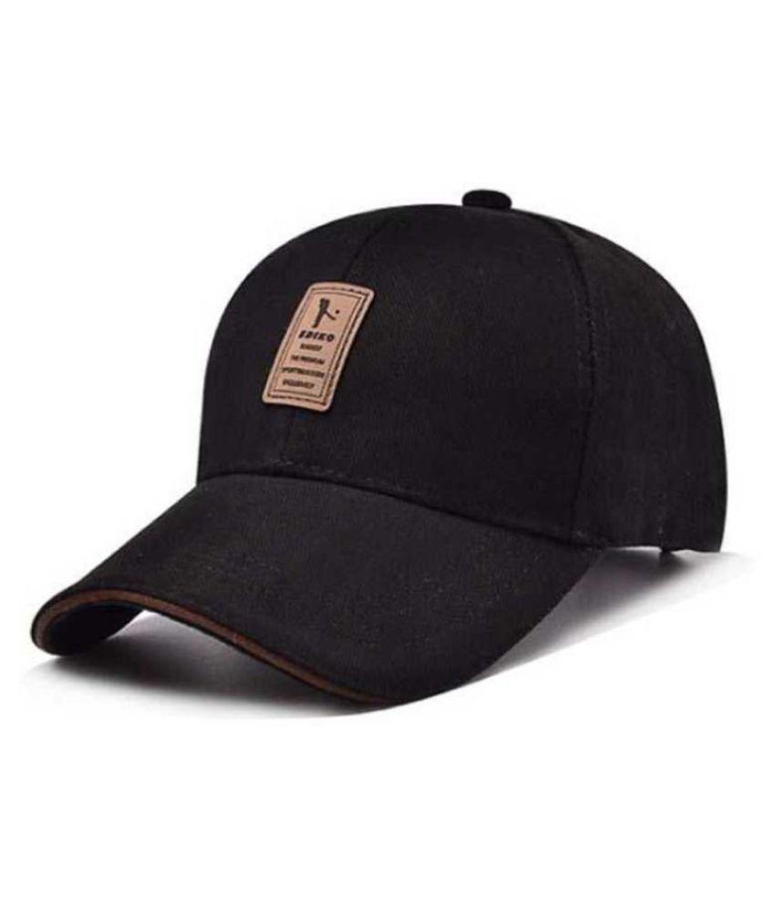 FAS Black Cotton Caps