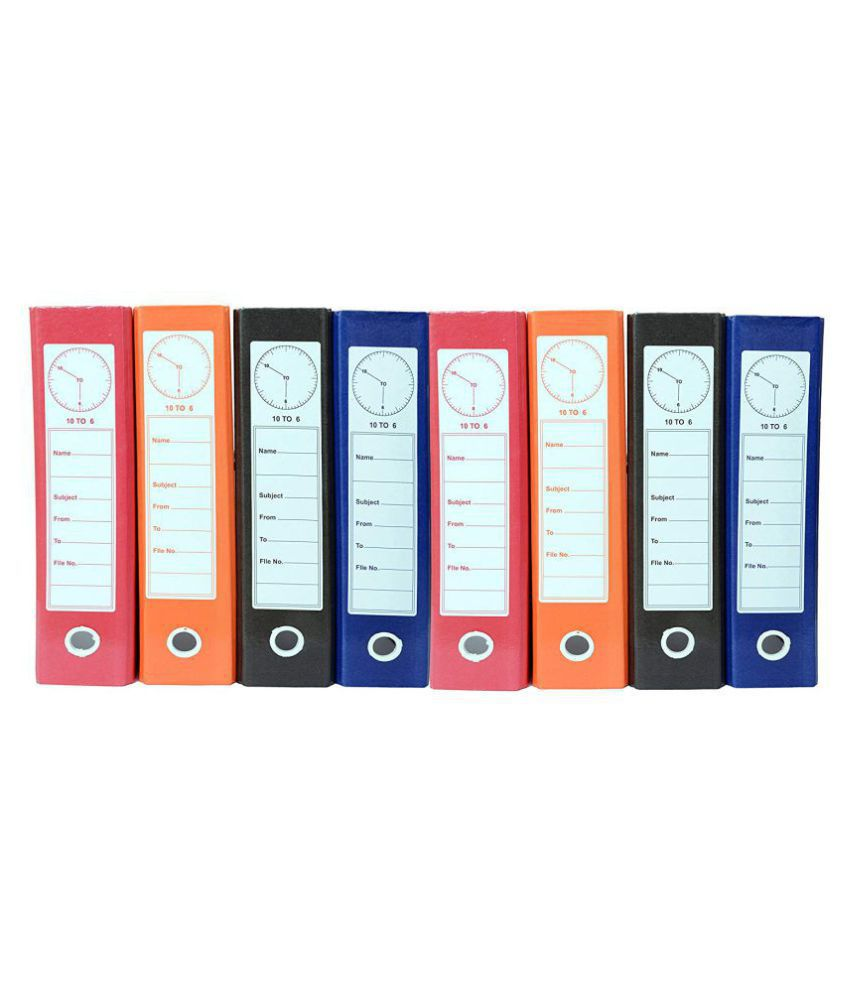 Helloperfect Post Binder Box File - Pack of 8