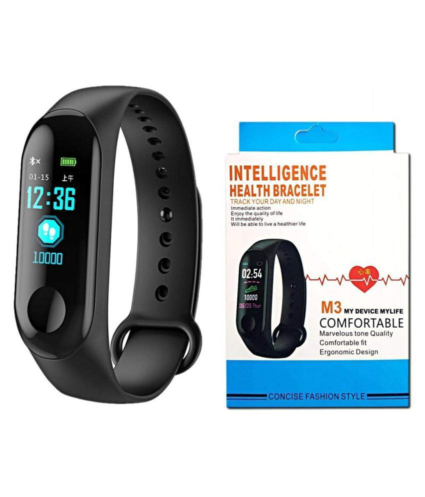 Possh M3 My Device My Life Smart Bracelet Sports Mileage Blood Pressure  Heart Rate Monitor OLED M3 Band