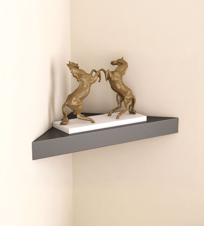 Home Sparkle MDF Decorative Corner Wall Shelves, Suitable For Living Room/Bed Room  Designed By Craftsman