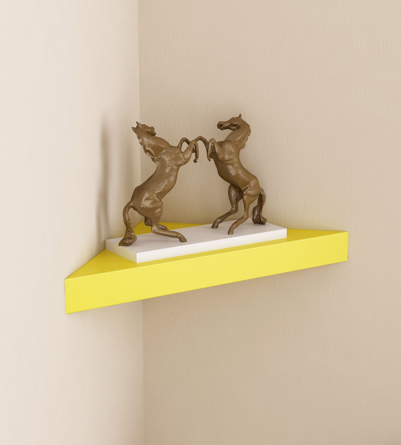 Home Sparkle MDF Decorative Corner Wall Shelves, Suitable For Living Room/Bed Room (Designed By Craftsman)