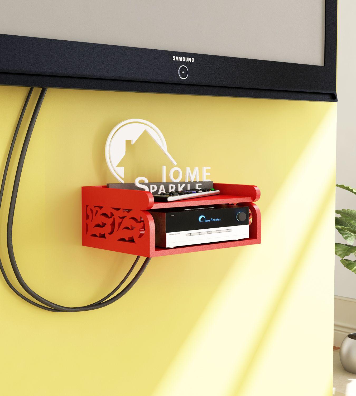 Home Sparkle Set Top Box Holder/Wifi Modem Stand, Suitable For Living Room/ Bedroom ( Designed By Craftsman)