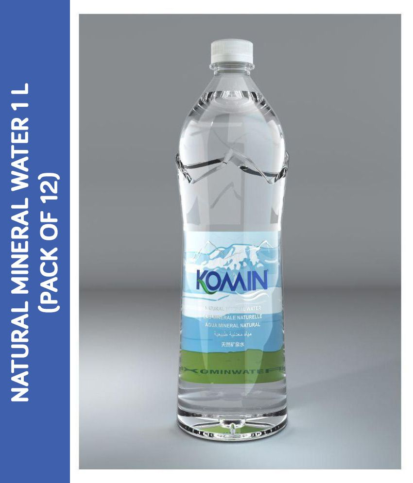 KOMIN Natural Mineral Water 1000 ml Pack of 12