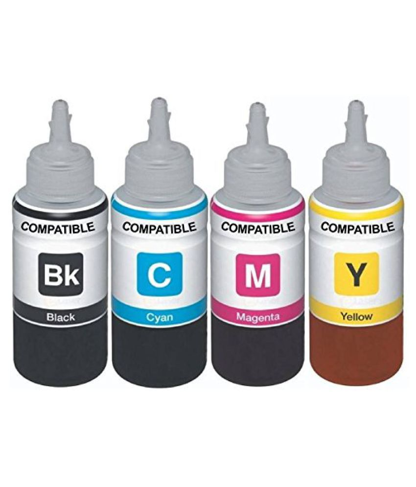 Kataria Refill Ink x 100ml Multicolor Pack of 4 Ink bottle for Canon E560 Colour WiFi Multifunction Inkjet Printer