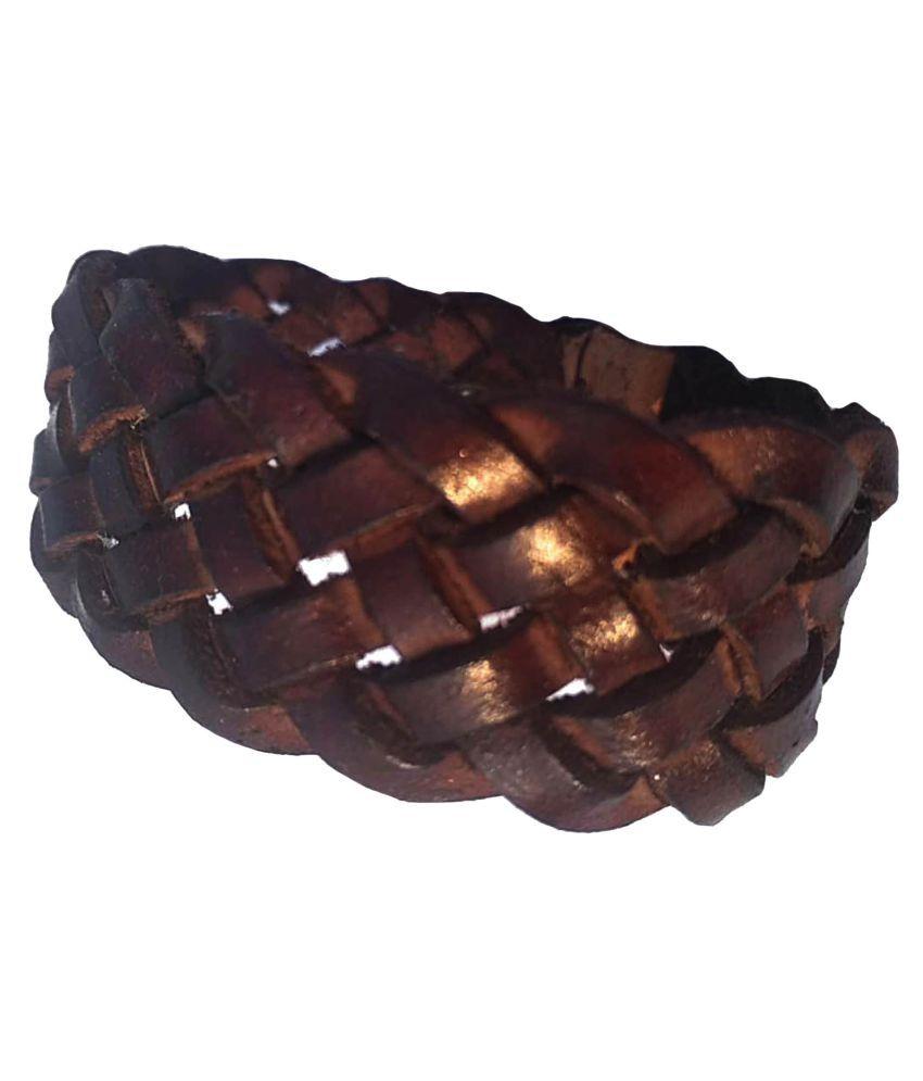 Leather bracelet for Men: leather bracelet ; Boys Brown*Handcrafted; Wrist Band For kids