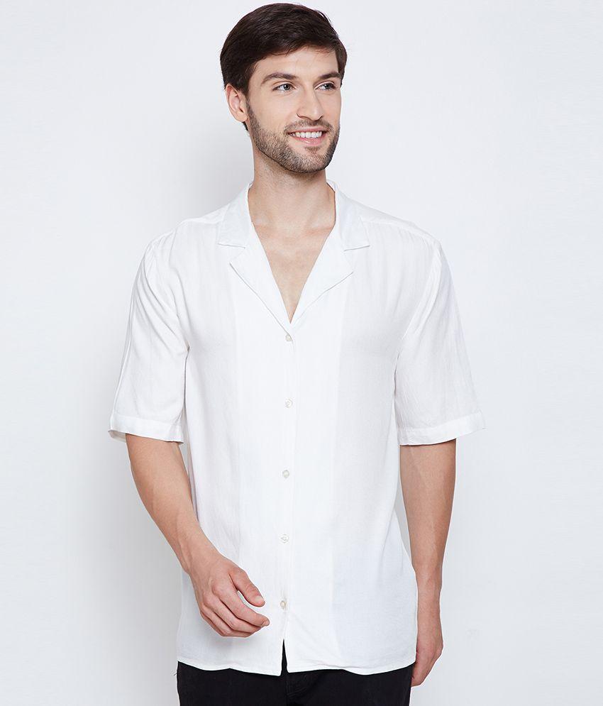 Oxolloxo Satin White Solids Shirt