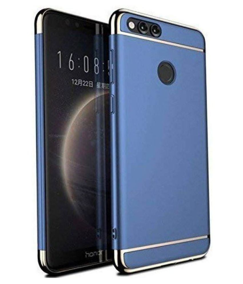 Oppo F9 Plain Cases Bright Traders - Blue