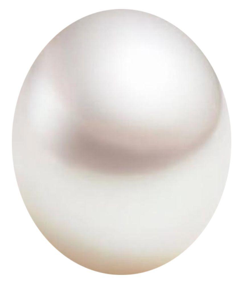 Tejvij And Sons 5.25 -Ratti Self certified White Pearl Semi-precious Gemstone