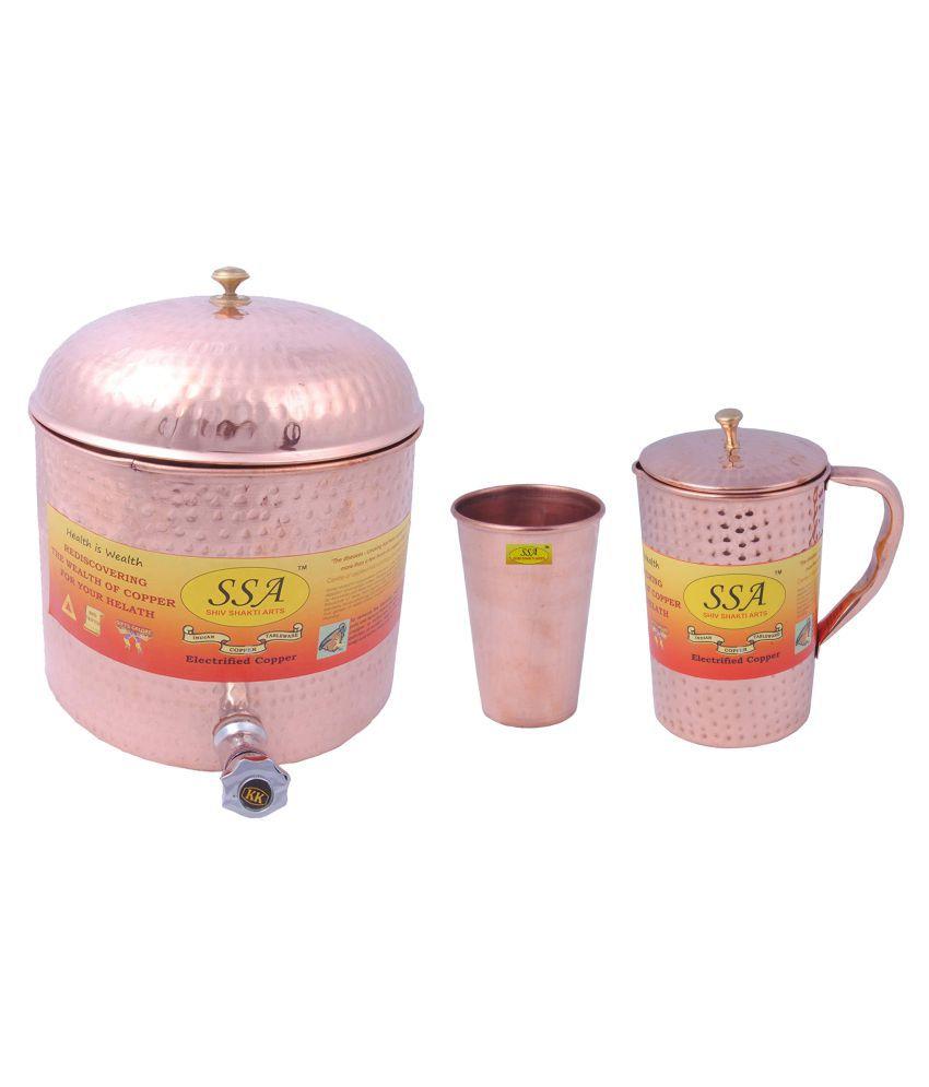 Shiv Shakti Arts Water Drinkware Set 3 Pcs Jug and Glass Combo