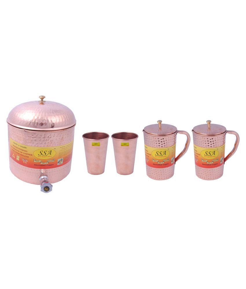 Shiv Shakti Arts Water Drinkware Set 5 Pcs Jug and Glass Combo
