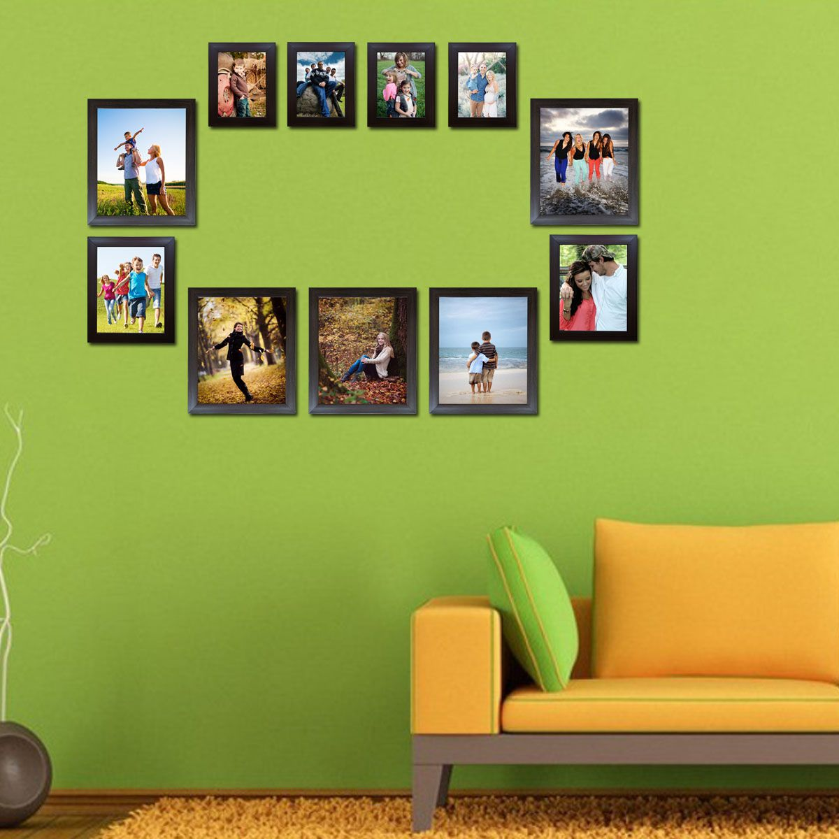 Decora Acrylic Brown Photo Frame Sets - Pack of 11