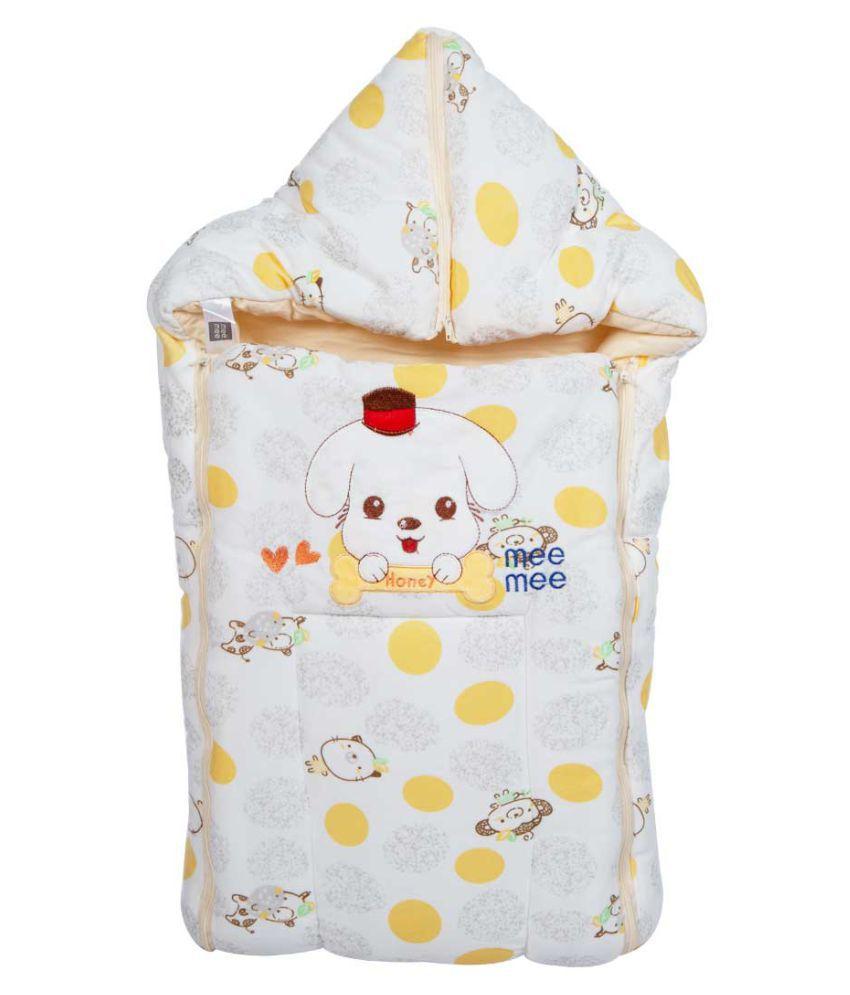 Mee Mee Beige Cotton Baby Wrap cum blanket ( 37 cm × 6 cm - 1 pcs)