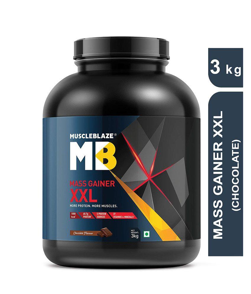 MuscleBlaze Mass Gainer XXL 6 6 lb/ 3 kg, 40 Servings (Chocolate)