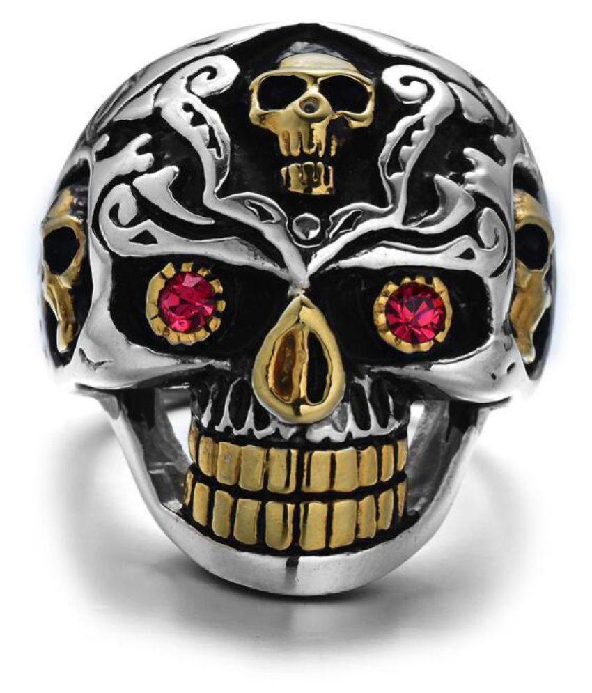 Red Eye Skull Male Ring Fashion Jewellery