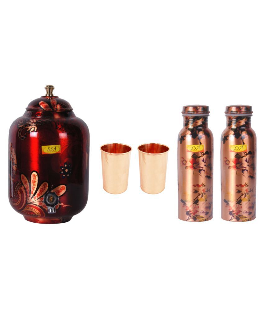 Shiv Shakti Arts Copper Drinkware Set 5 Pcs Lemon set