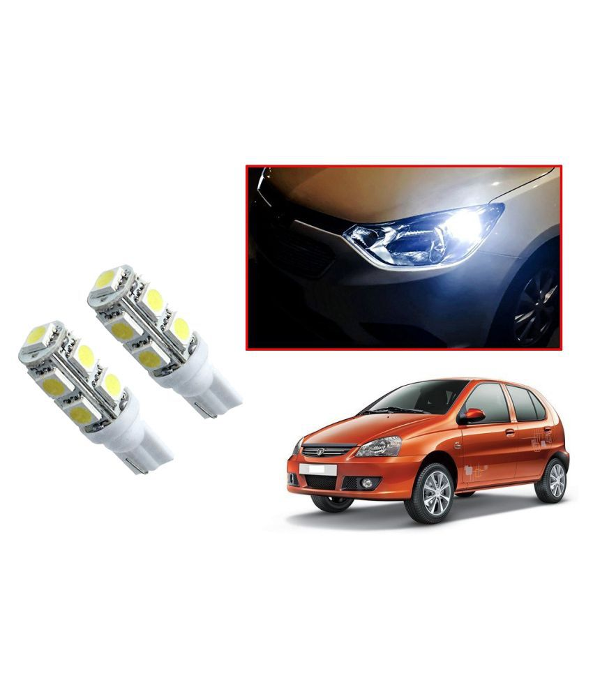 Auto Addict Car T10 9 SMD Headlight LED Bulb for Headlights,Parking Light,Number Plate Light,Indicator Light For Tata Indica