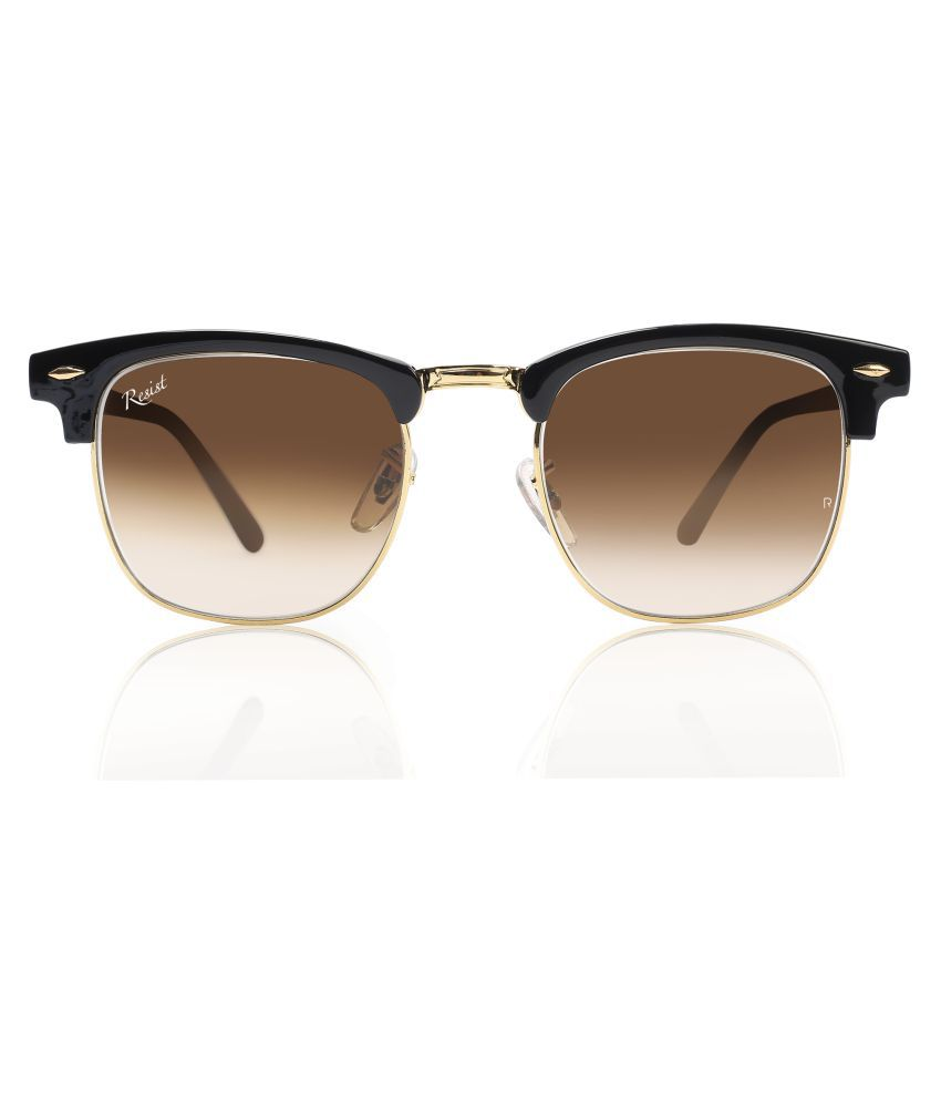 RESIST - Brown Clubmaster Sunglasses ( REA-CL-G03 )