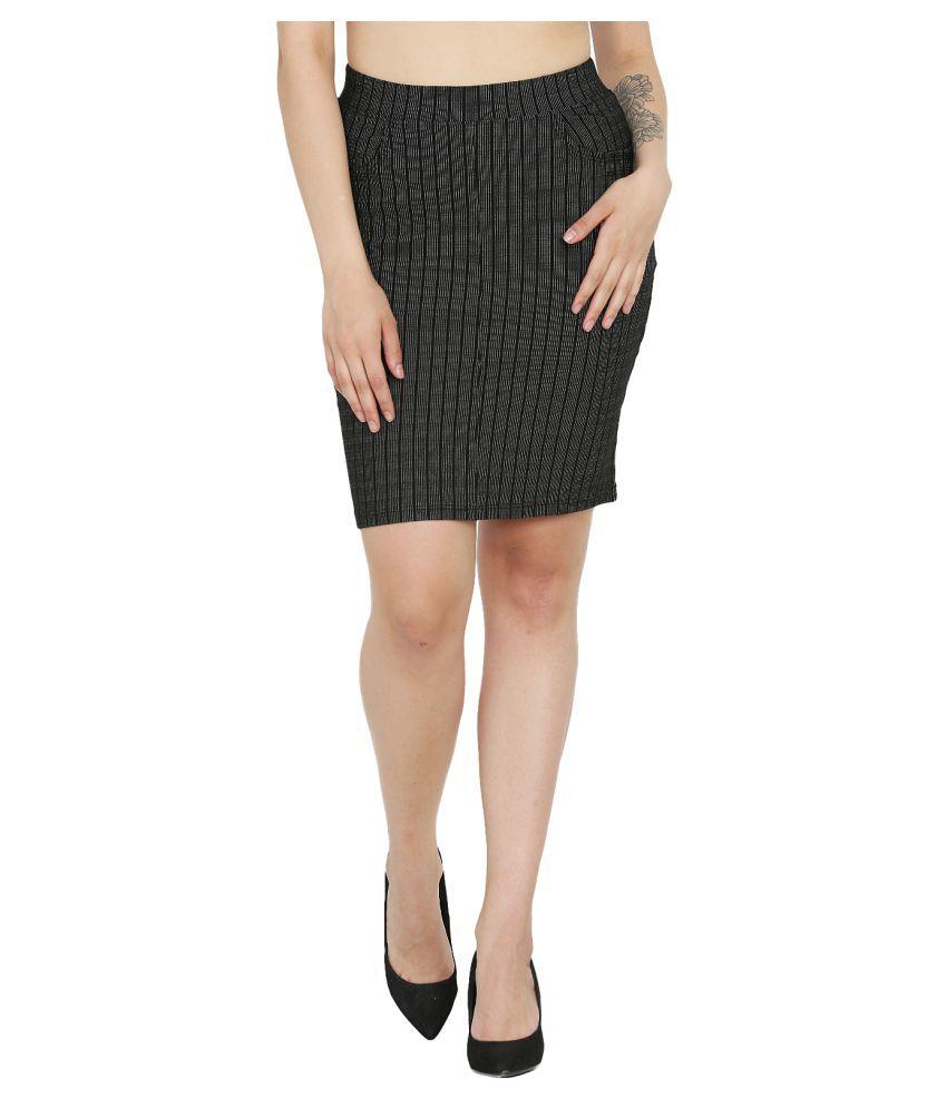 Westwood Cotton A-Line Skirt - Black