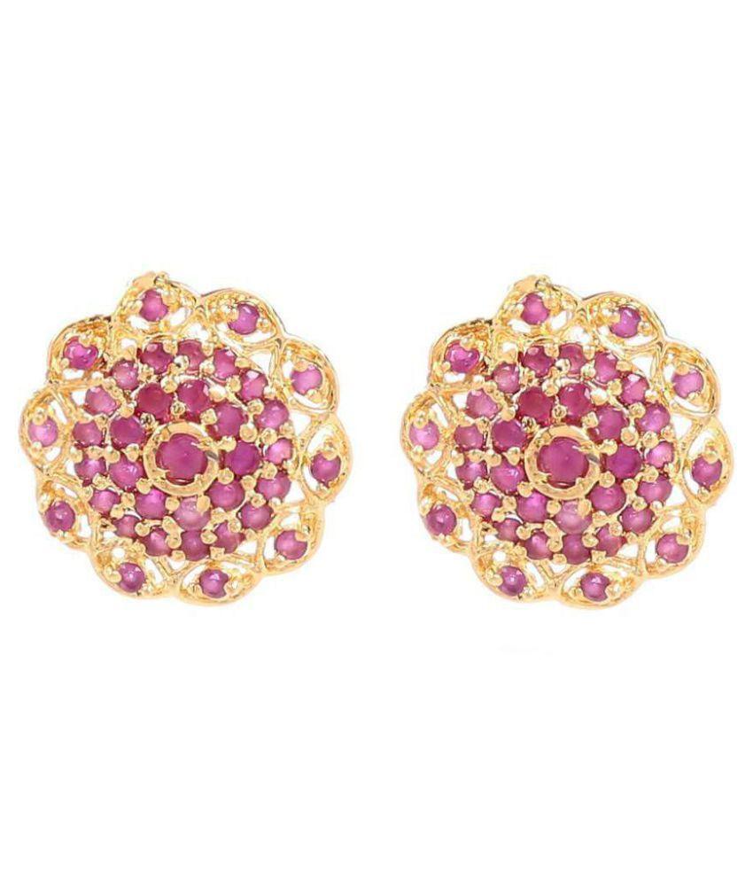 GoldNera Kiara Brass Stud Earrings