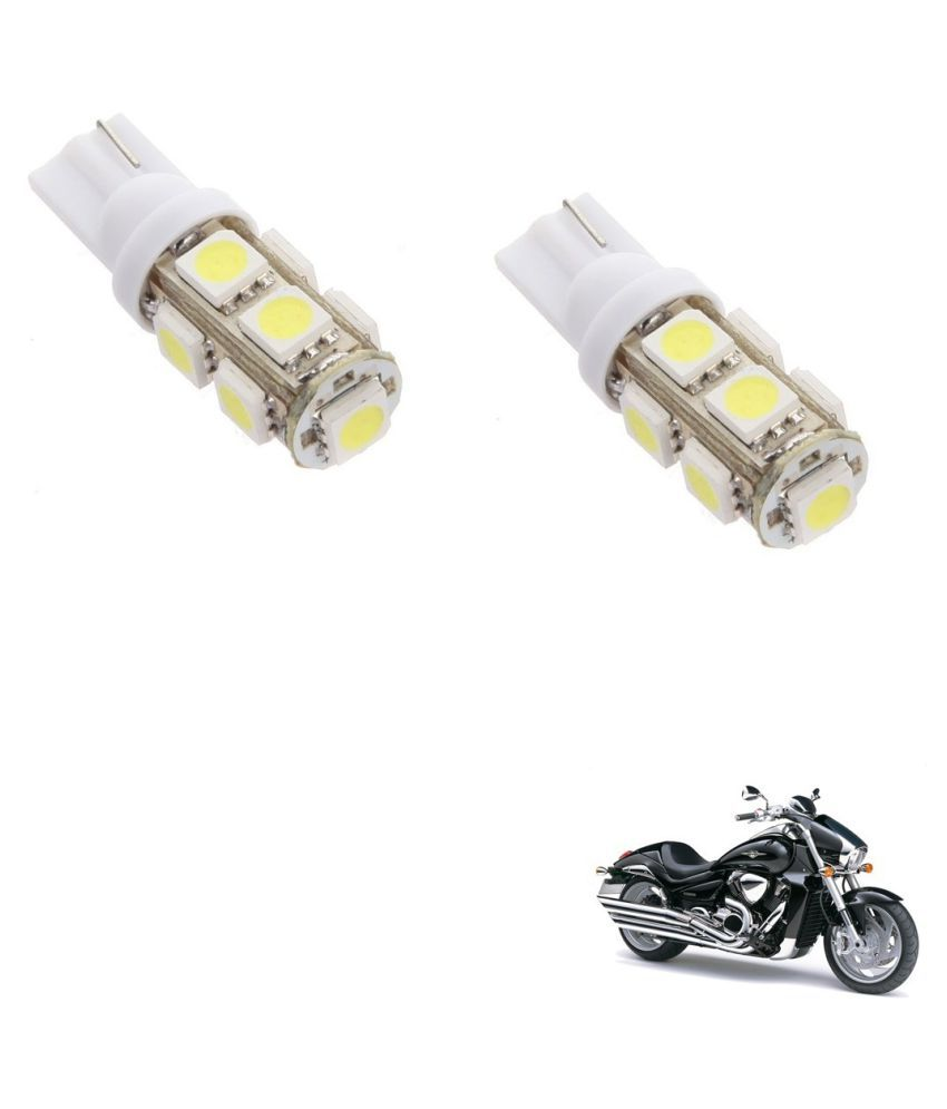 Auto Addict Bike T10 9 SMD Headlight LED Bulb for Headlights,Parking Light,Number Plate Light,Indicator Light For Suzuki Intrader