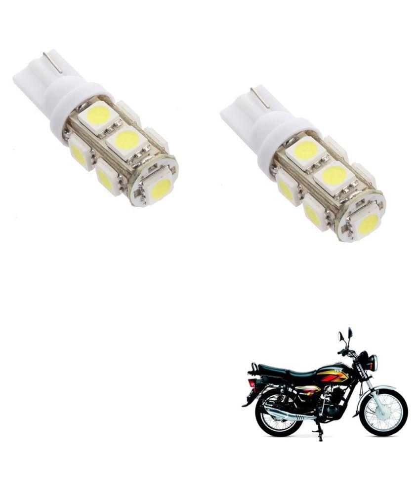 Auto Addict Bike T10 9 SMD Headlight LED Bulb for Headlights,Parking Light,Number Plate Light,Indicator Light For TVS Max 4R