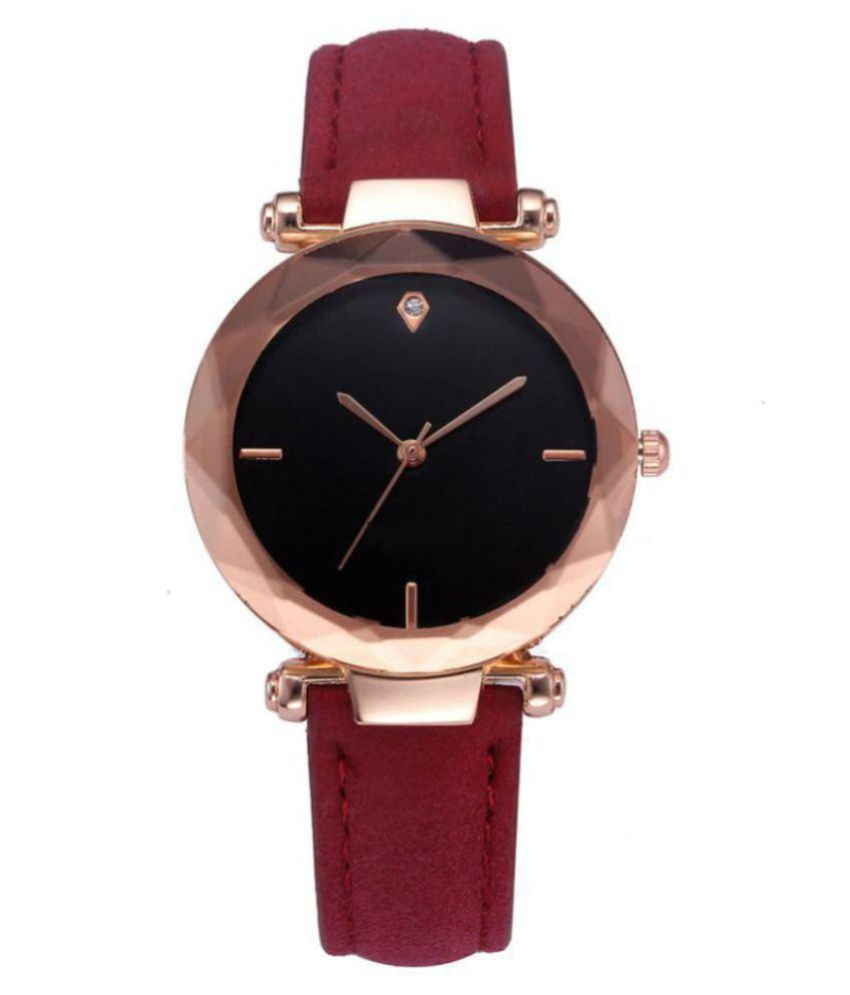 GT Gala Time Leather Round Womens Watch
