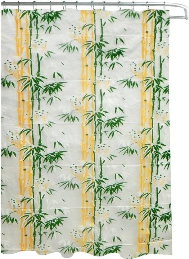 Dakshya Industries Set of 2 Shower Curtain Green Others