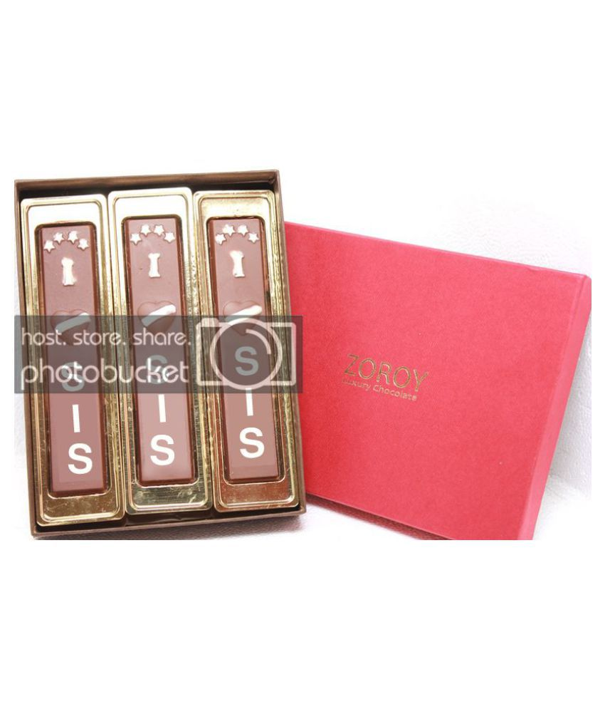 Zoroy Luxury Chocolate Chocolate Box Box with 3 bars saying
