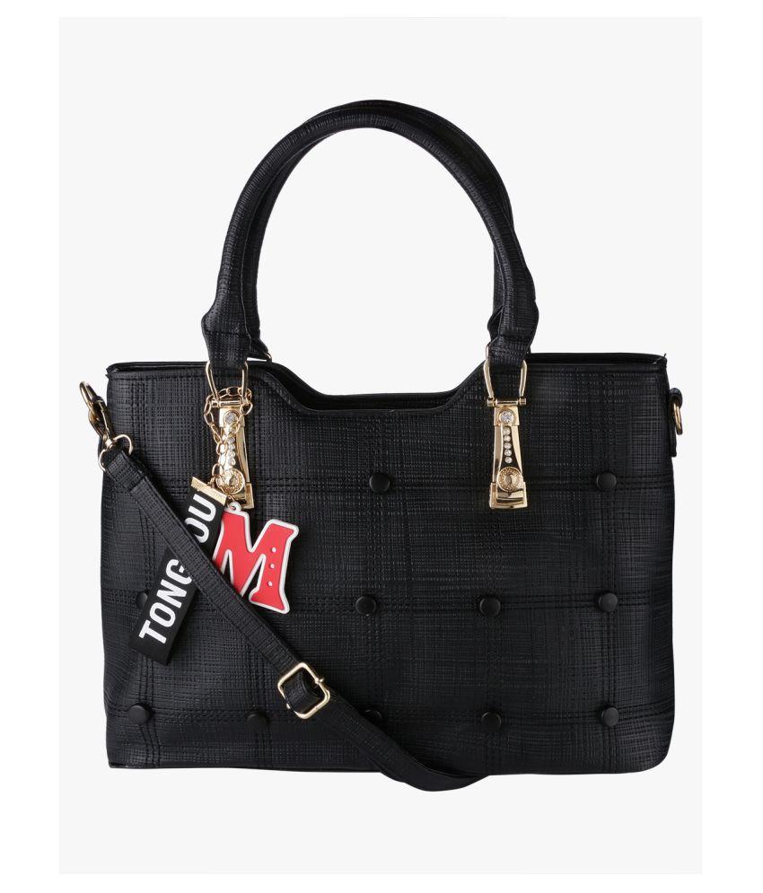 Satchel Bags & Accessories Black P.U. Shoulder Bag